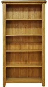 Chester Oak Large Wide Bookcase