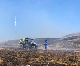 Cumbrian rescue teams return home after moorland fire fighting