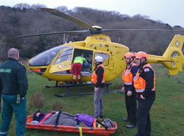 Rescue teams came to aid of female walker with broken ankle