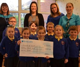 Children delighted as Walney school receives staggering cheque for £3836.88