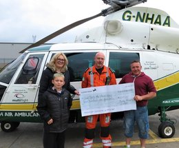 Boy left bloodied and confused after bike crash has been reunited with the air paramedic who came to his aid