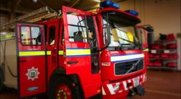 FIREFIGHTERS are currently tackling a Barrow blaze
