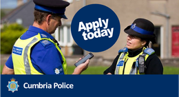 APPLY NOW: Cumbria Constabulary is recruiting Police Community Support Officers (PCSOs)