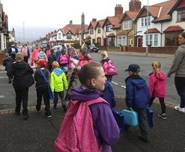10,000+ Cumbrian children and parents to take part in Walk to School Week 2018
