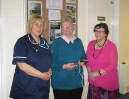 Donations made to Solway team for excellent care
