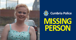 MISSING PERSON: Rhiannon Petcher, 16, from Barrow