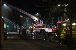 Major Fire in the Barrow Town Centre
